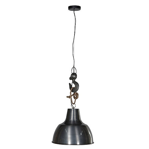Hook and Rope Metal Pendant Light