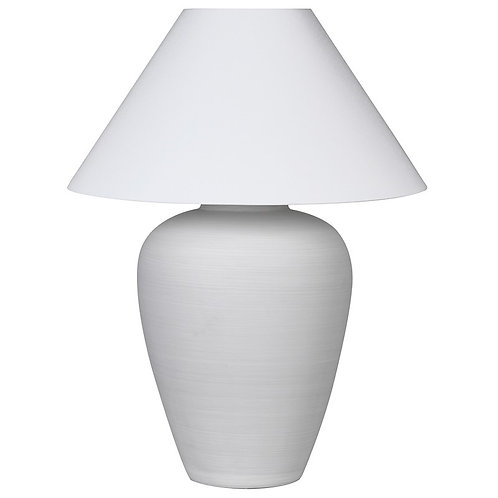 White Ceramic Lamp with Shade