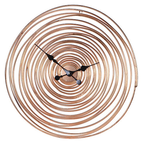 Copper Swirl Wire Wall Clock