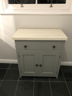 One drawer and Two door bathroom unit
