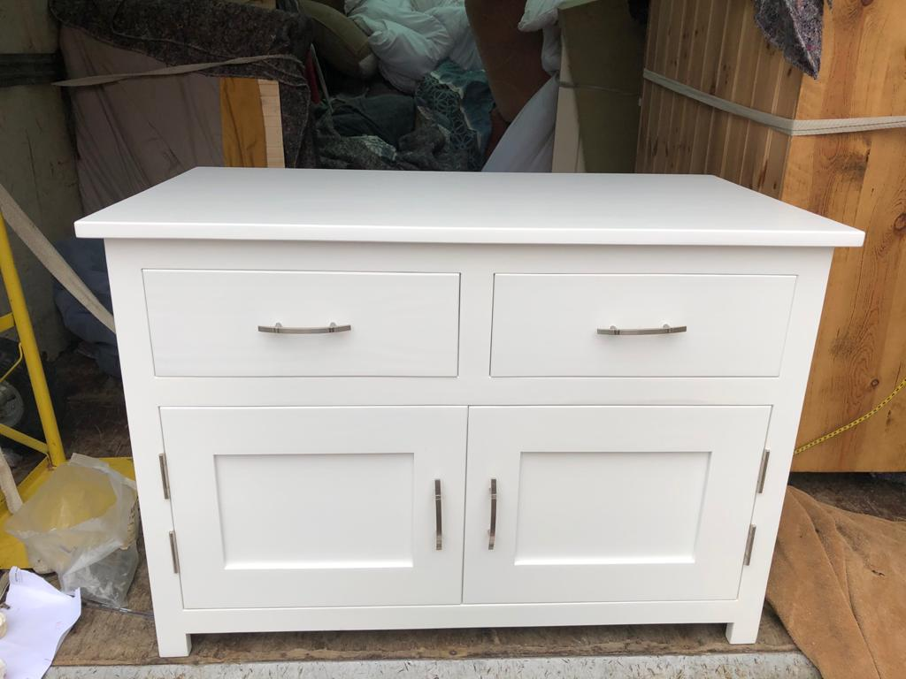 White two door two drawer sideboard