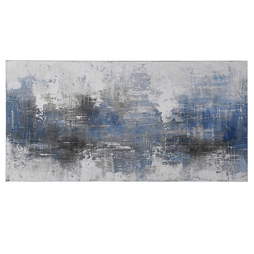 Blue Grey Abstract Oil Paint