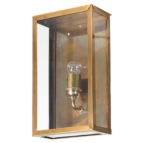 Gold Box Glass Wall Light
