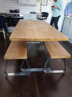 6Ft Chrome Table