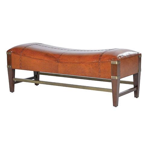 Jaipur Leather Shaped Bench