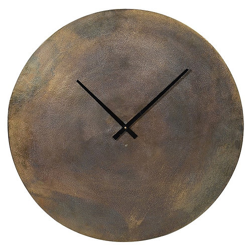 Mars Antique Brass Wall Clock