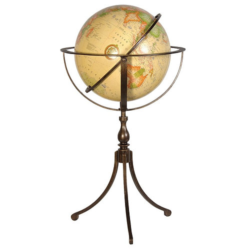 Large Globe with Bronze Stand