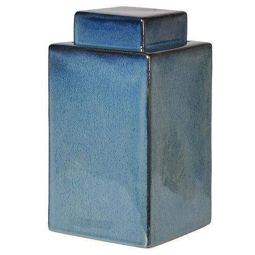 Small Blue Square Jar