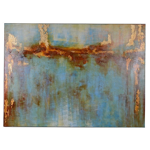 Large Blues, Golds & Ambers Abstract