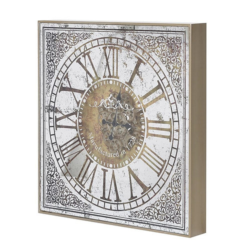 Large Ornate Wall Clock with Gears
