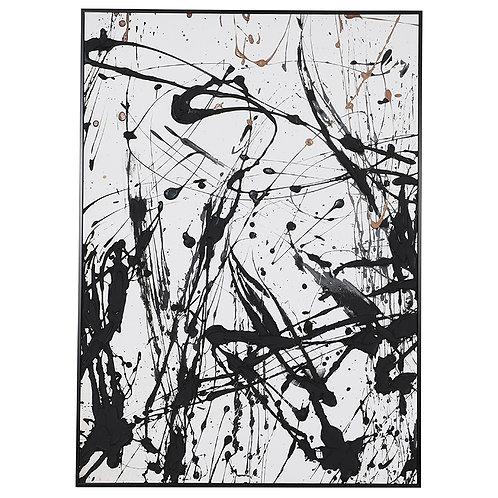 Monochrome Splatter Painting