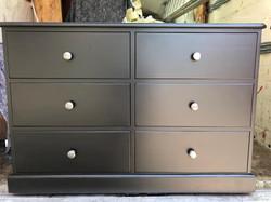 Black 6 drawer Chest