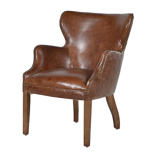 Cuba Brown Leather Chair