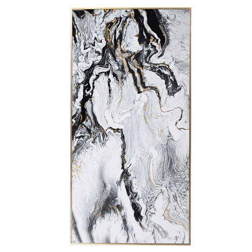 Large White Marble Effect Print