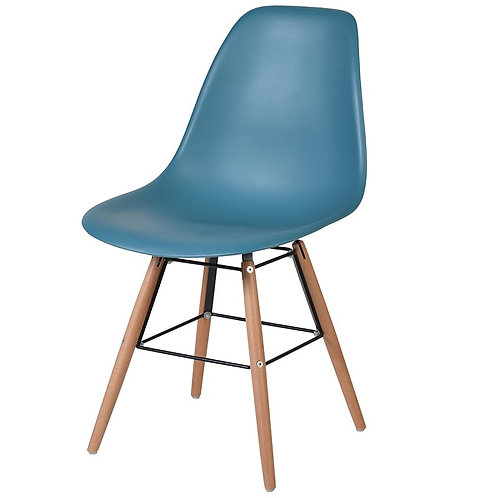 Teal Moulded Seat Chair