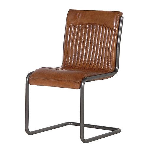Italian Leather/Steel Office Chair