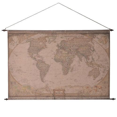 Fabric Hanging World Map
