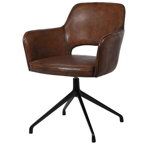 Vintage Brown Swivel Chair