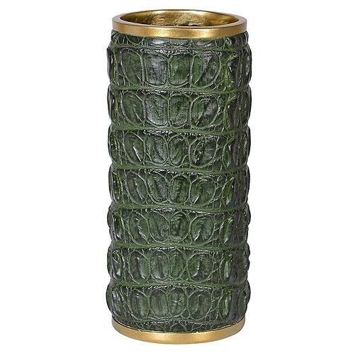 Faux Croc Skin Dry Flower Vase