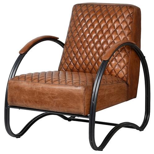 Tan Iron Armchair