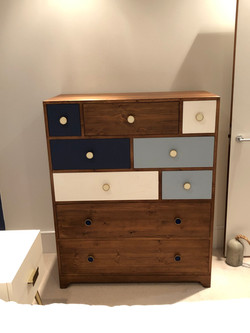 Pine Muti-Colour Chest of Drawers