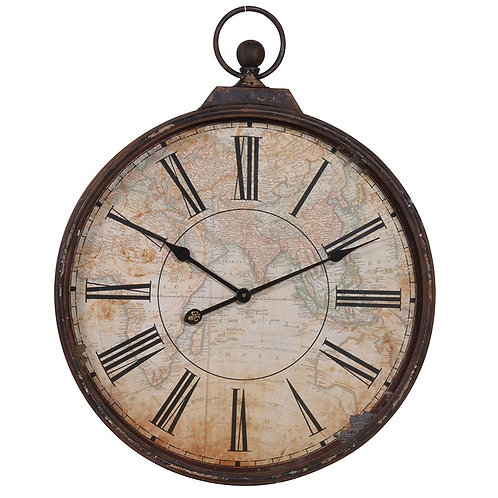 Map Effect Wall Clock