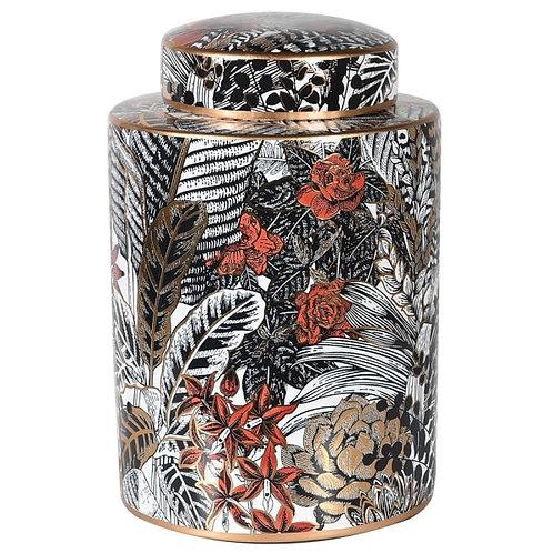 Leaf Print Lidded Jar