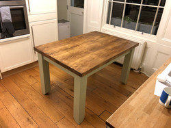 Wooden Table with painted legs