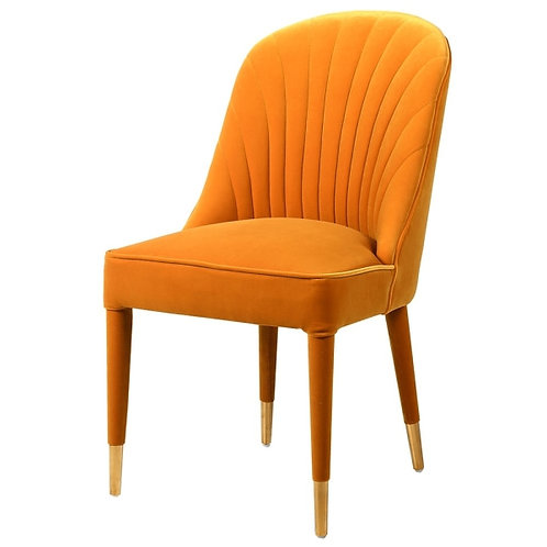 Mustard Curve Back Chair