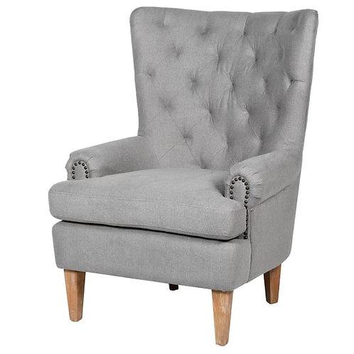 Light Grey Linen Arm Chair