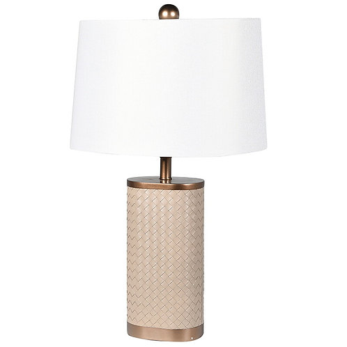 Woven Leather Look Lamp