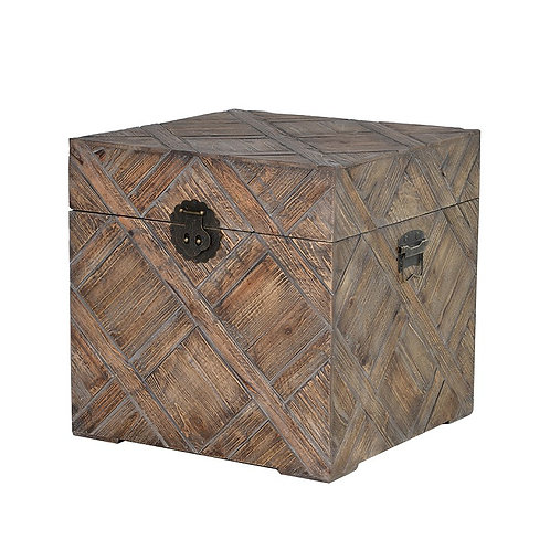 Carved Effect Square Trunk