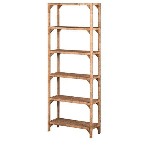 Rattan 6 Shelf Unit