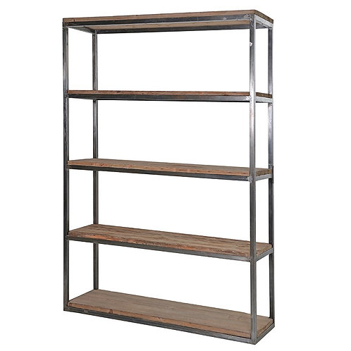 Colonial Reclaimed Pine/Metal Medium Open Shelf Unit