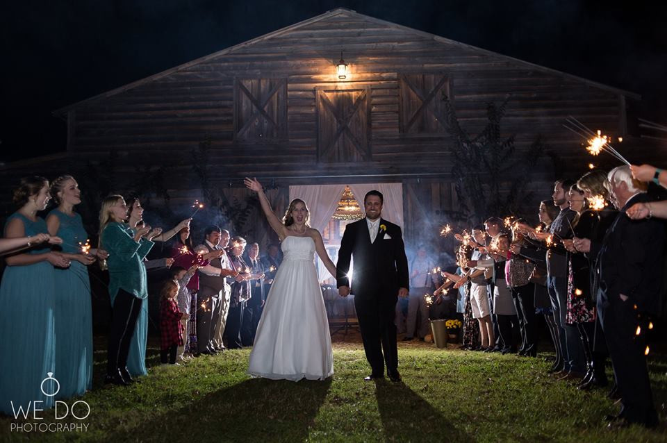 Sparkler sendoff by We Do Photography