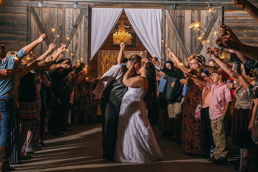 Sparkler send-off by Goodman Photography