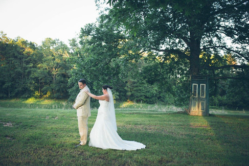 First touch |The Wedding Barn at L'Horne
