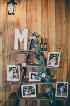 Aframe ladder decorated