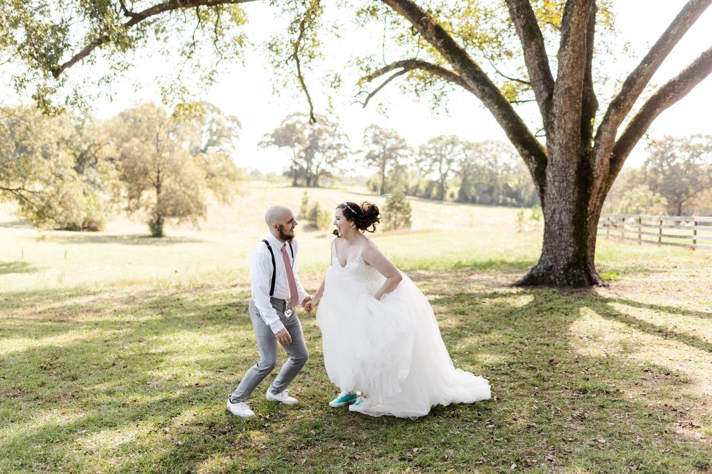 Clara & John under pecan tree