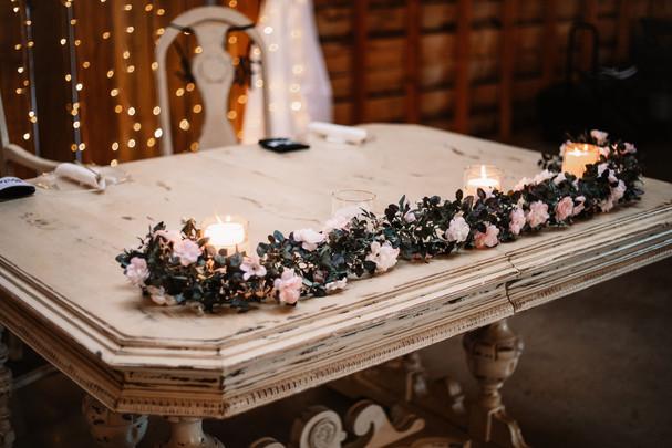 Sweet heart table