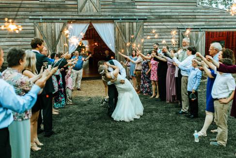 Sparkler Sendoff  The Wedding Barn at L'Horne