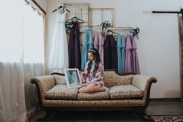 Amanda in bridal suite
