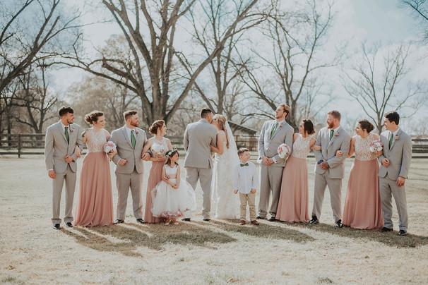 Kimberly & Dexter wedding party