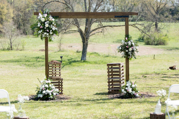 Arch decorated