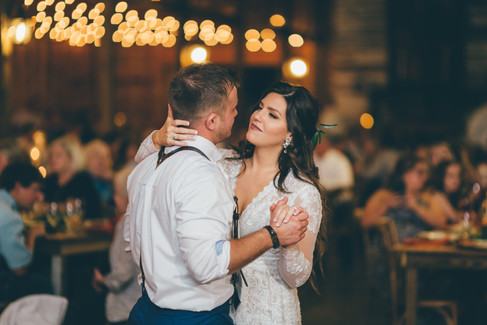 Closeup of first dance