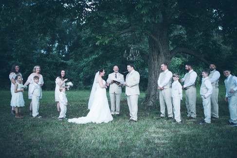 Saying vows |The Wedding Barn at L'Horne
