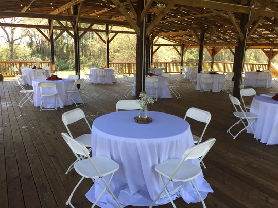 Pole barn ready for dinner guests