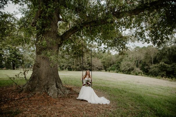 Lizzy in the tree swing