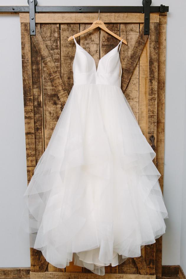 Dress pic on Barn door