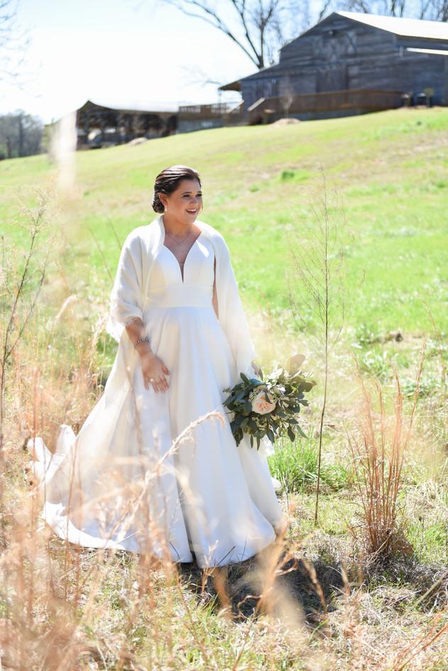 Megan in tall grass